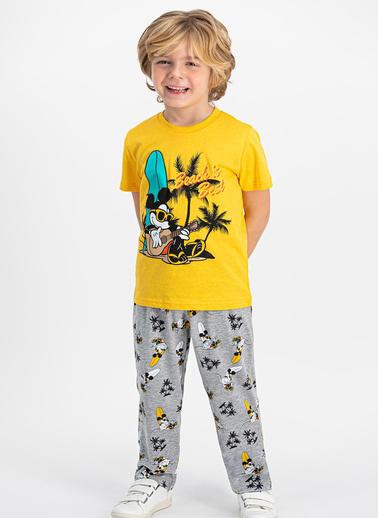 Mickey Mouse Pijama Takım Sarı